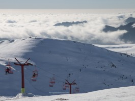 Sinaia ski resort panoramic view