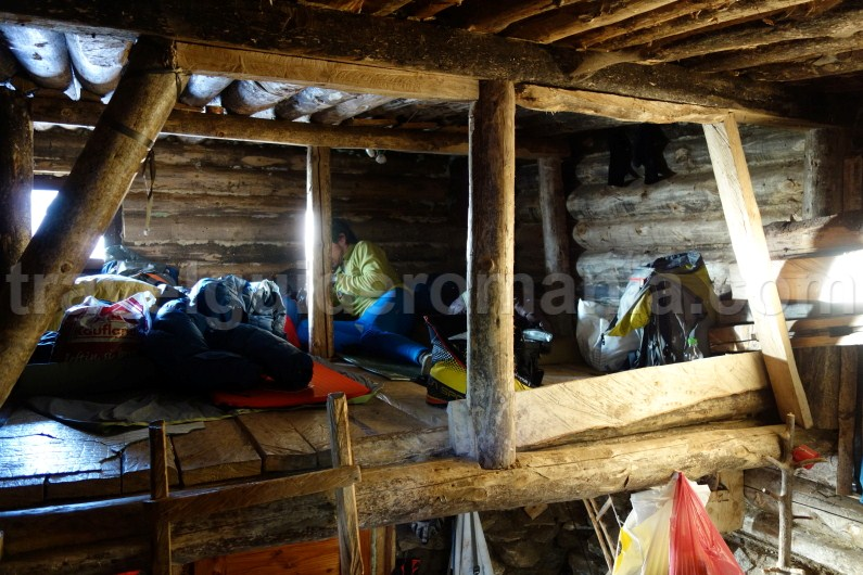 Inside Gugu shelter in Godeanu Mountains - Romania