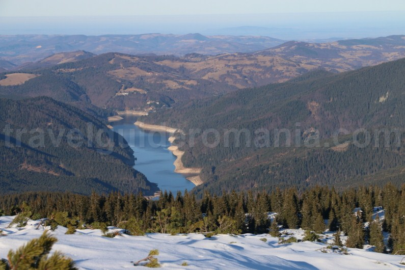 Dragan dam and lake seen from Buteasa peak