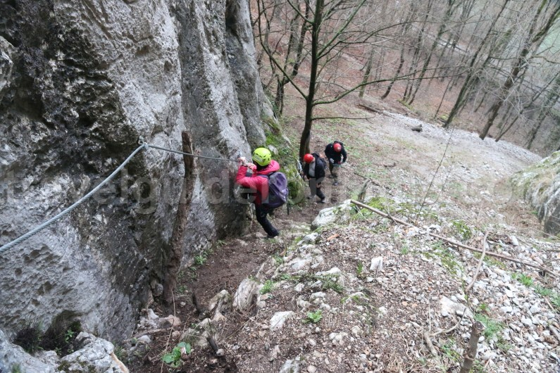 Escorted tours in Romania - Via ferrata at Vadu Crisului