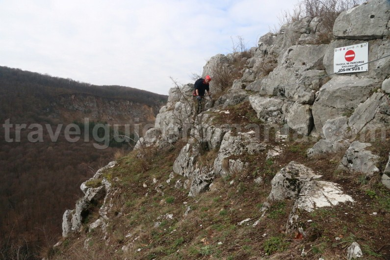 Guided tours in Romania - Via ferrata route in Vadu Crisului