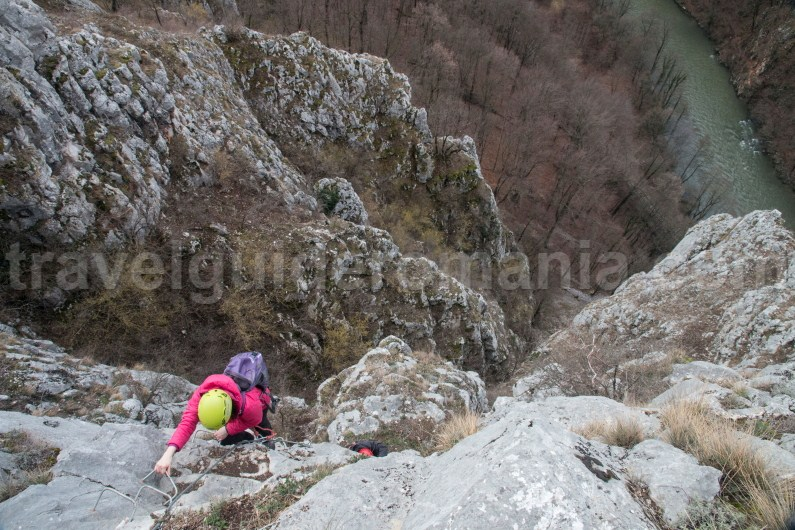 Via ferrata climbing route in Romania