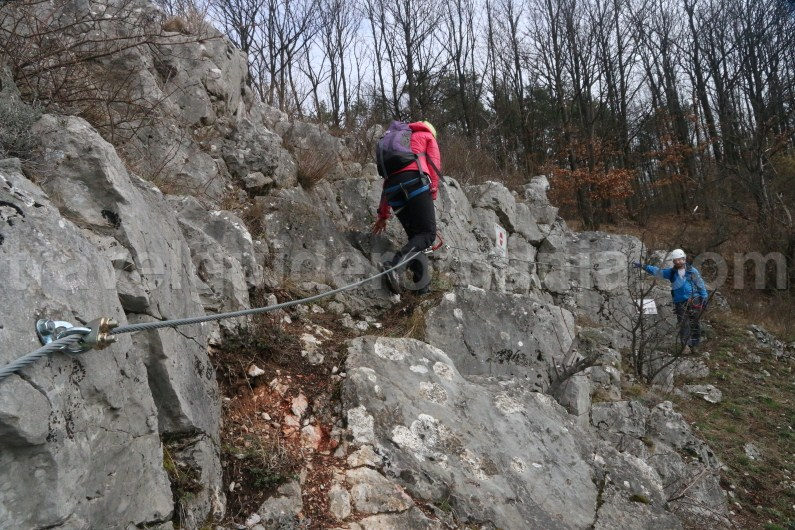 Via ferrata route in Vadu Crisului - adventure in Apuseni mountains