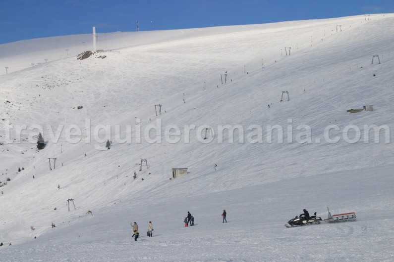 Ski slopes at Muntele Mic