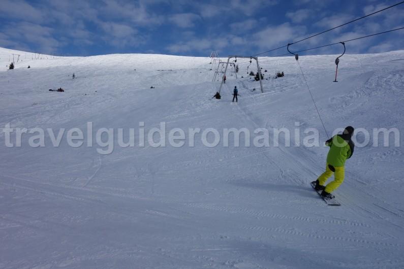 Snowboard at Muntele Mic