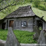traditional wooden house in Herculane area