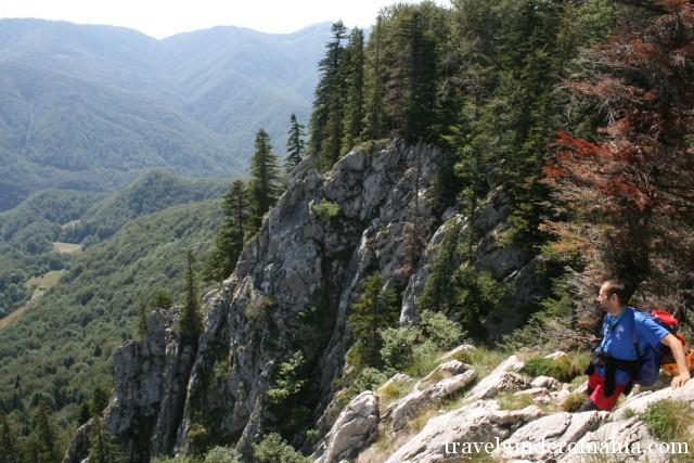 View From Pietrele Galbenei Padis Tourist Area Parcul Bucegi