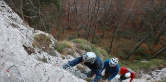 Via ferrata at Pietrele Negre area