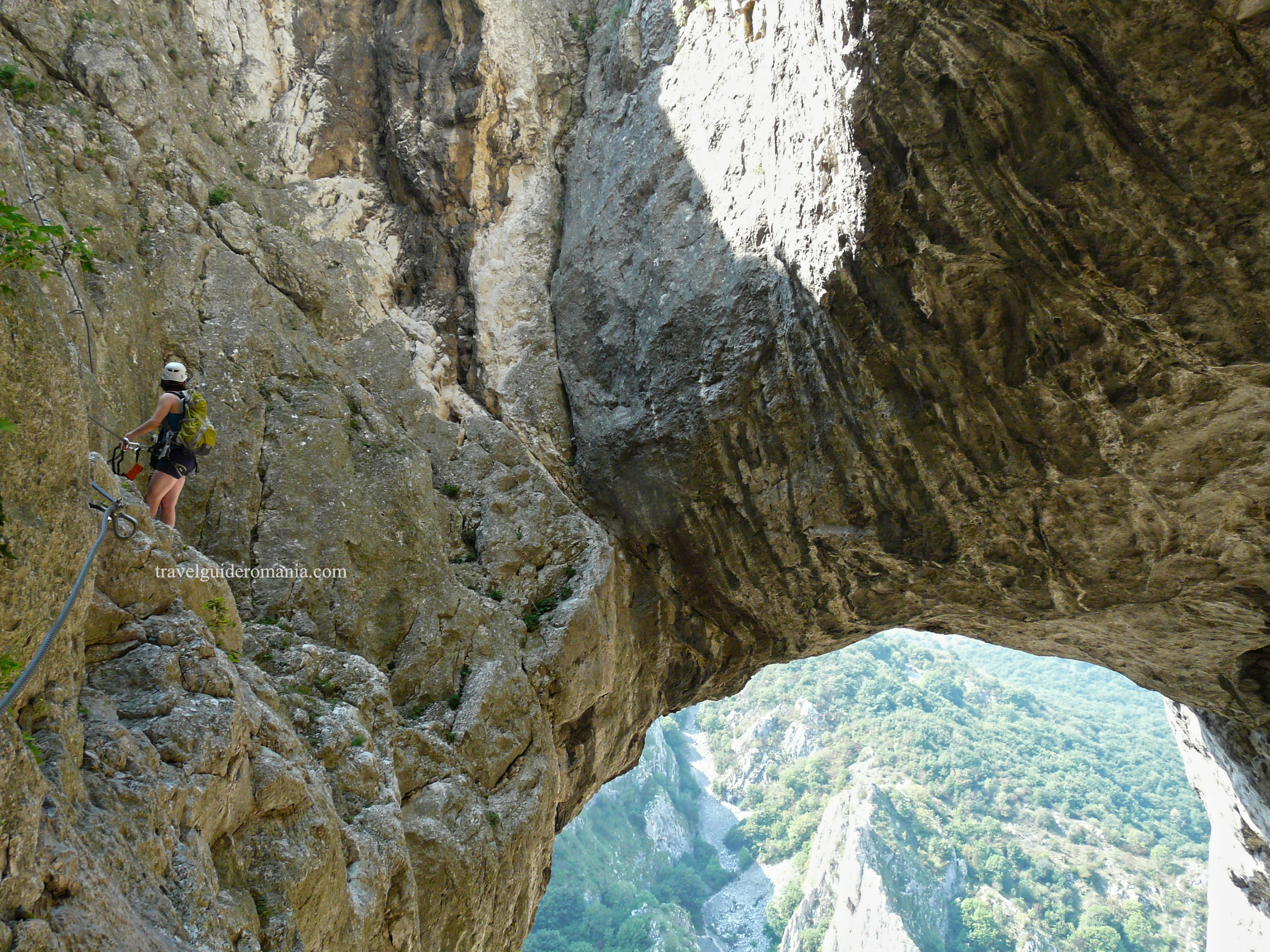 Via ferrata in Turda Gorge