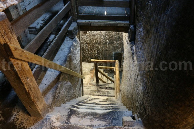 Descending into Turda Salt Mine - Romania