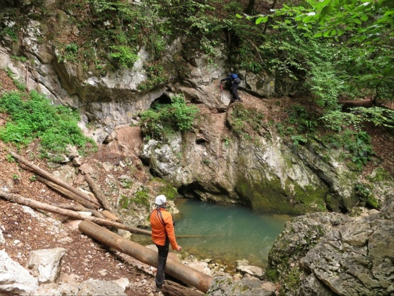 Galbenei Spring Gorges Apuseni hiking
