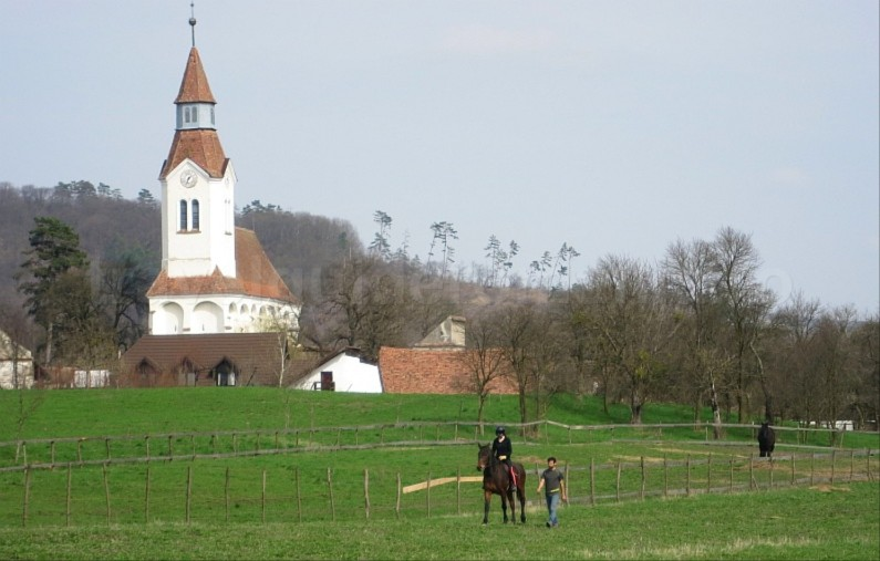 Saxon village with fortified church bunesti