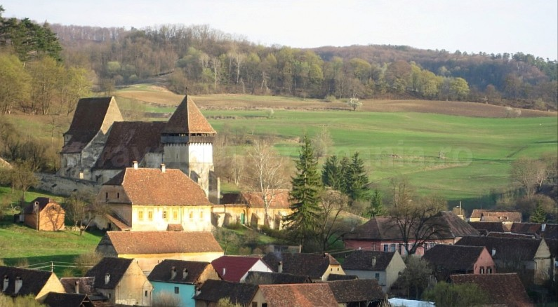 Saxon village with fortified church copsa mare hiking The Hills of Transylvania