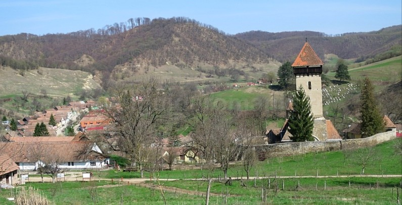 Saxon village with fortified church malancrav The Hills of Transylvania