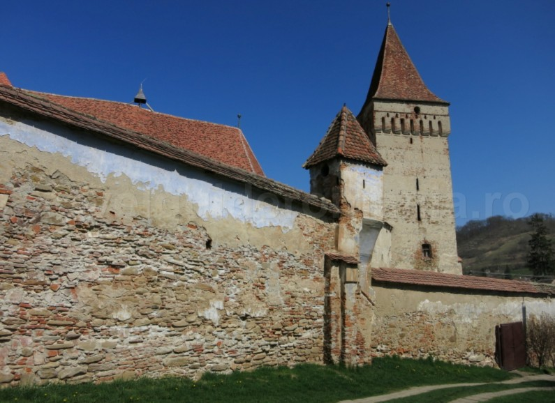 Saxon village with fortified church mosna The Hills of Transylvania