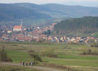 Saxon village with fortified church saschiz bike trail The Hills of Transylvania