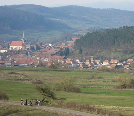 Saxon village with fortified church saschiz bike trail The Hills of Transylvania