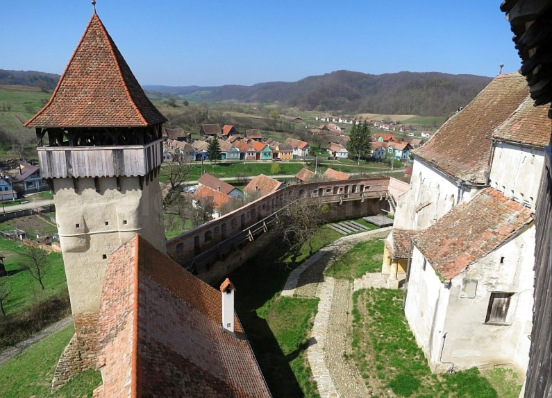 Saxon village with fortified church tower alma vii The Hills of Transylvania