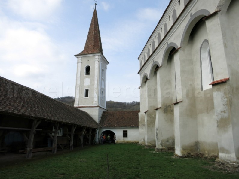 Saxon village with fortified church tower cloasterf The Hills of Transylvania