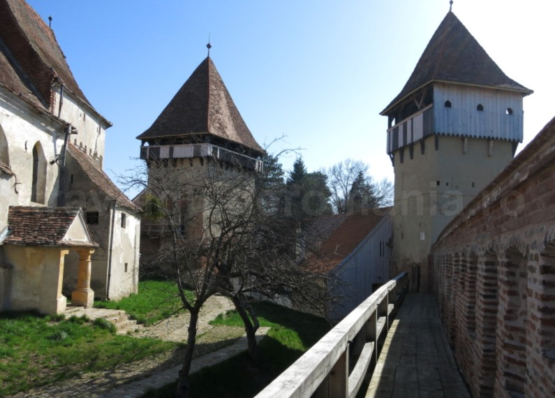 Saxon village with fortified church towers alma vii The Hills of Transylvania