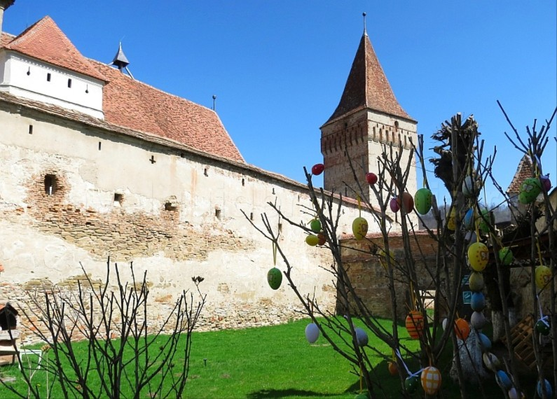 interior Saxon village with fortified church mosna The Hills of Transylvania