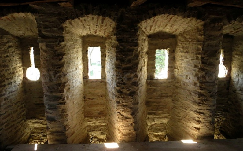interior towers Saxon village with fortified church mosna The Hills of Transylvania