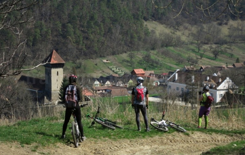 mtb trail malancrav Saxon village with fortified church The Hills of Transylvania