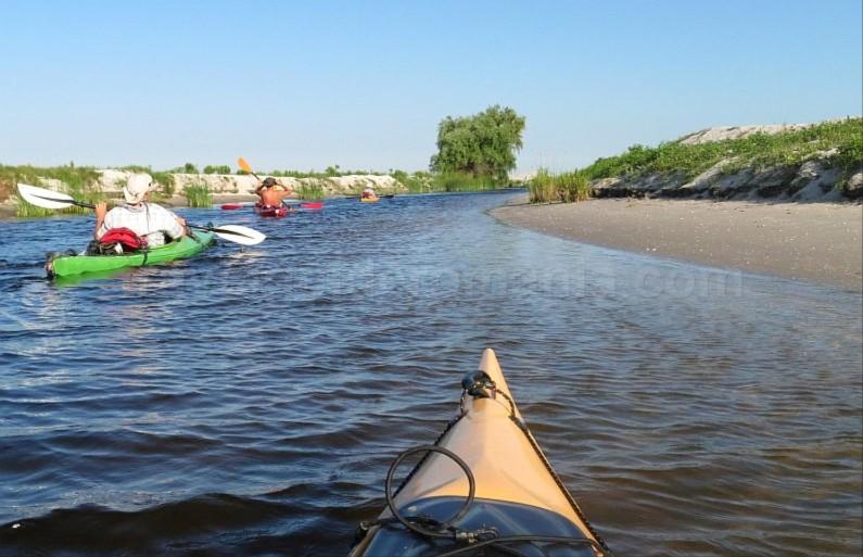 Danube Delta Nature Reserve kayak Sidor Channel Sand dunes