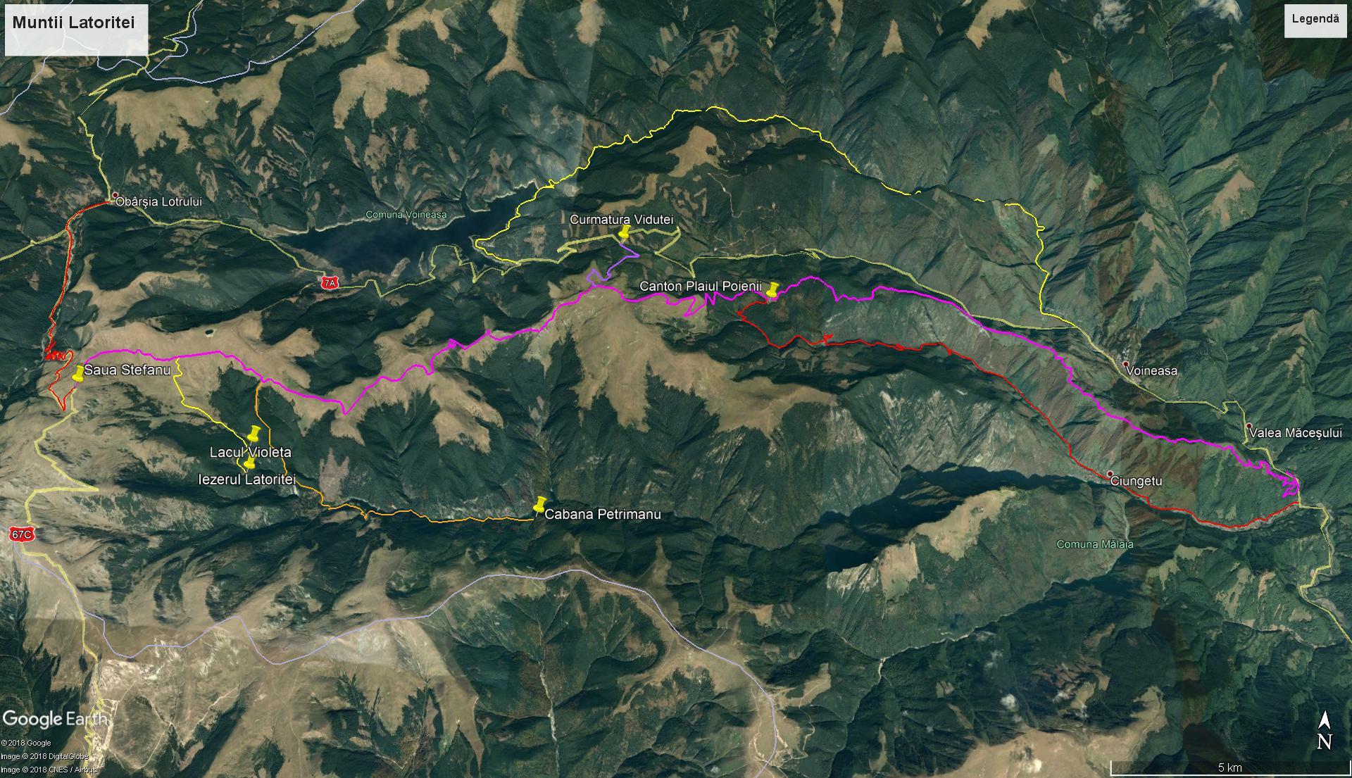 latoritei mountains map strategic road mountain-biking
