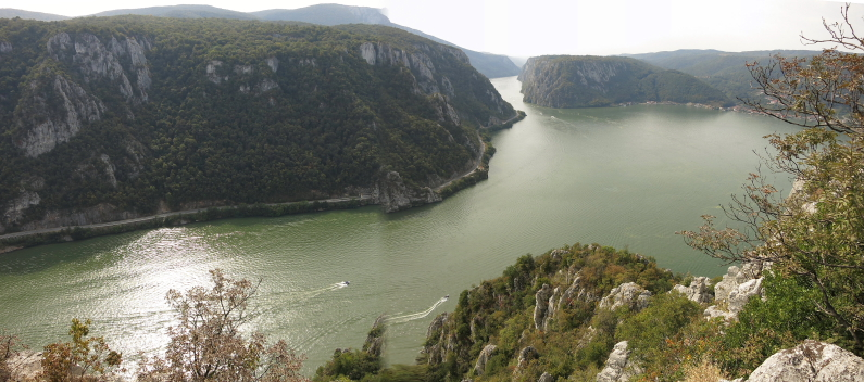 The Danube Cauldrons natural park portile de fier the iron gates dubova bay