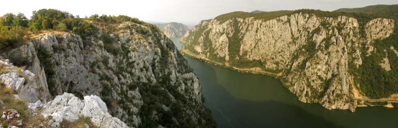 The Danube Cauldrons natural park portile de fier the iron gates