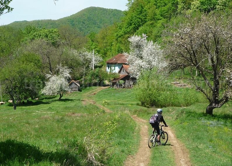czech village Banat Mountains mountain biking