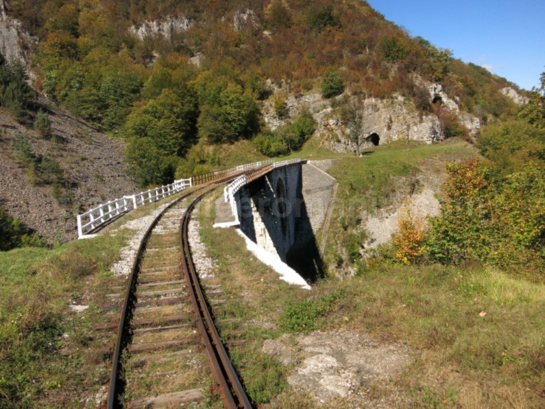 the oldest mountain railway in Romania monument anina oravita viaduct jitin