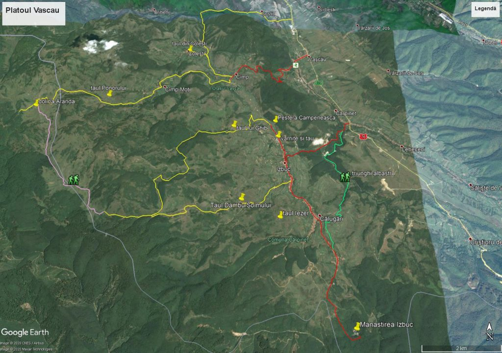 map The Vascau Karst Plateau – The Apuseni Mountains