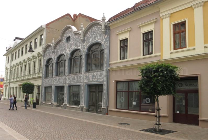 Pietonal street Vasile Alecsandri Oradea Romania