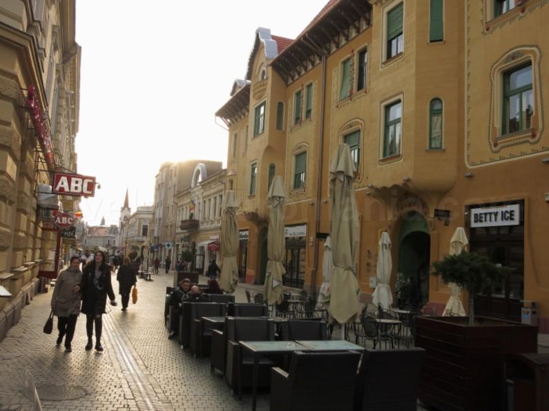Republicii street Oradea Romania