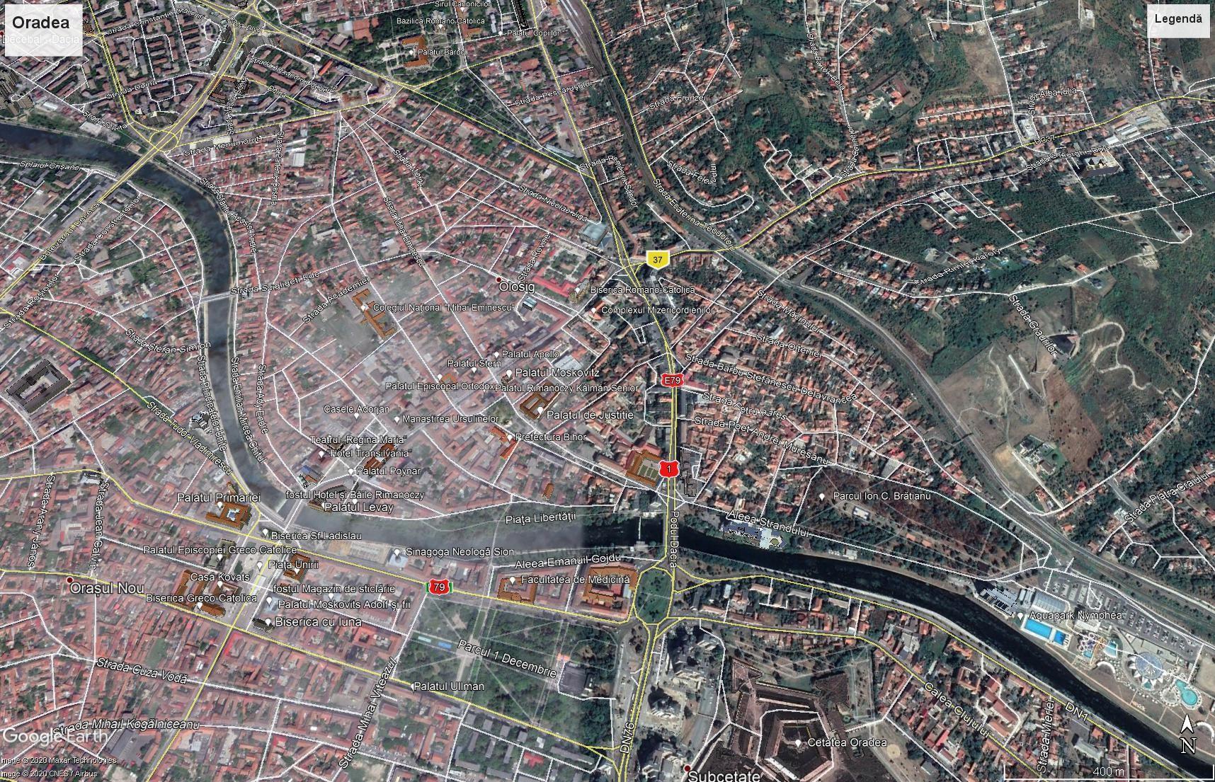 Oradea map