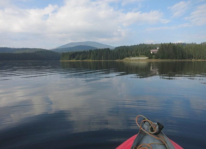 transalpina lake oasa kayak